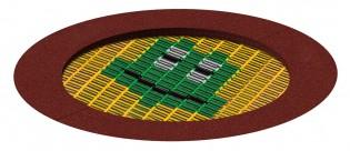 Trampolina Pi z kolorową grafiką zdjęcie