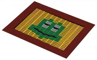 Trampolina XL z kolorową grafiką